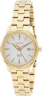 Citizen Women White Dial Stainless Steel Band Watch - Eu6072-56D