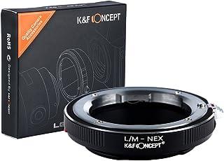 K&F Concept Leica M Adaptador ∙Compatible con Cámara Sony E-Mount (NEX/Alpha) ∙ Adaptador para Lente Leica M