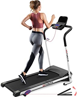 Goyouth Folding Treadmill 2.25HP Electric Motorized Running Exercise Machine with 3 Levels Manual Incline, Ipad/Phone Holder Walking Jogging Machine for Home/Office Use