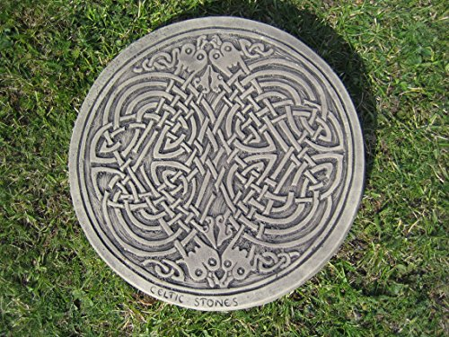 Celtic square knot Stepping stone garden ornament