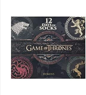 Women`s Game of Thrones 12 Days of Socks Advent Calendar - Colors May Vary 4-10