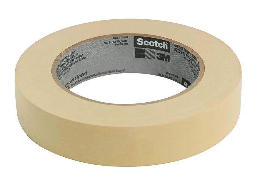 Scotch Contractor Grade Masking Tape, .94 inch x 60.1 yard,  2020, 24 Rolls