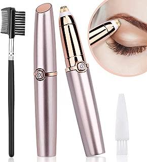 Eyebrow Remover, YBLNTEK Eyebrow Hair Remover Electric Eyebrow Trimmer Eyebrow Epilator for Women Painless Eyebrow Razor with Light (Battery Not Included)