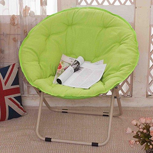 chaise Grand Paresseux inclinable de Radar de Soleil de Lune Pliante Ronde canapé Poids 300 kg Pliant, Couleur: Vert