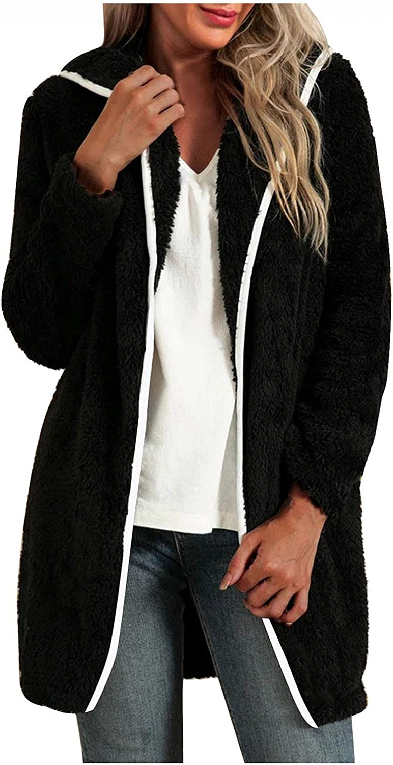 Changeshopping Womens Coat Winter Fashion Warm Print Long Sleeve Coat Casual Blouse Pullover