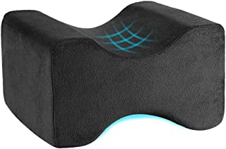 Awroutdoor Orthopedic Knee Pillow-Memory Foam Knee, Hip, Sciatica & Lower Back Pain Relief Cushion Provides Support & Comfort, Breathable, Between-The-Legs Pregnancy Sleep Contour Wedge -Black