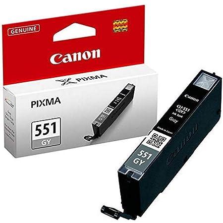 Canon Tintenpatrone Cli 551 Gy Grau Grey 7 Ml Für Pixma Drucker Original Bürobedarf Schreibwaren