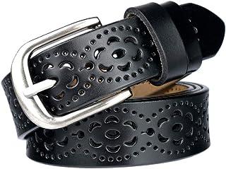 comprar comparacion lalafancy Cinturón de las mujeres de cuero genuino del zurriago de la vendimia Moda diseño floral hueco Cinturón de las se...