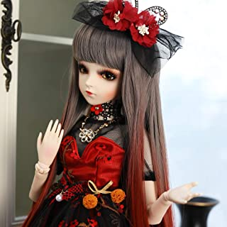 UCanaan BJD Doll, 1/3 SD Dolls 24 Inch 18 Ball Jointed Doll DIY Toys with Full Set Clothes Shoes Wig Makeup, Best Gift for Girls-Charm