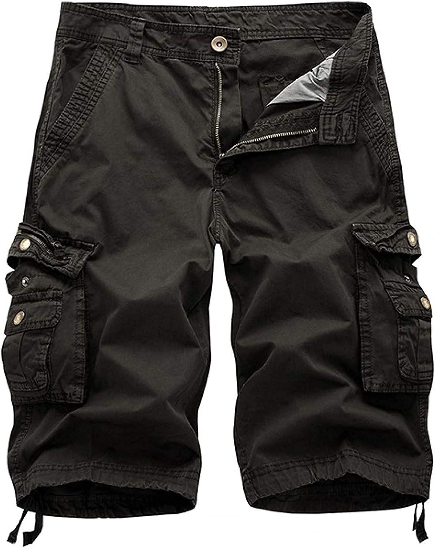 GHJX Men's Cargo Shorts Summer Fashion Stitching Personality Outdoor Combat Work