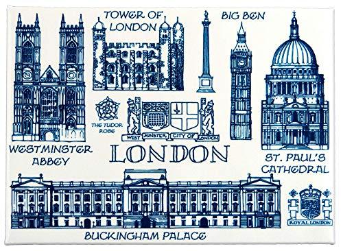 Calamita da frigo London Heritage con tabellone artistico