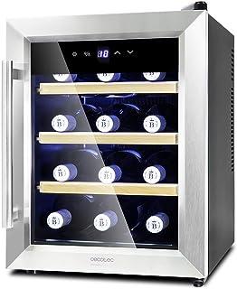 Cecotec Cave à vin Grand Sommelier 1200 CoolWood. Capacité pour 12 Bouteilles, Étagères en Bois et Technologie Montionles...