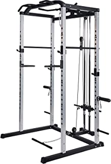 Power Rack Power Cage 1000-Pound Capacity Home Gym Equipment Exercise Stand Olympic Squat..