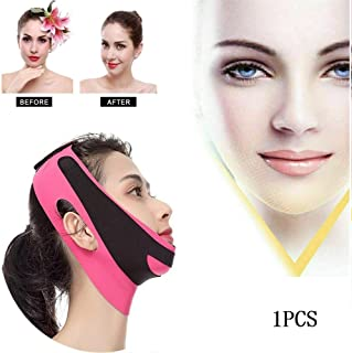KGIDK V-Line Face Slimming Band, Cheek Lift Up Shaper Strap, Breathable Chin Anti Wrinkle Bandage, Face Contour Lifting Belt, Women Anti-Aging Beauty Tools for Face Shaping (1PCS)