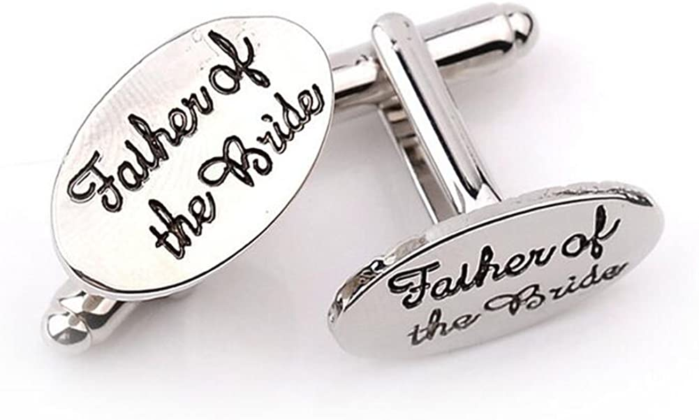 Freedi Men's Cufflinks and Studs Set Father of the Bride Shirts Accessories Cuff Links