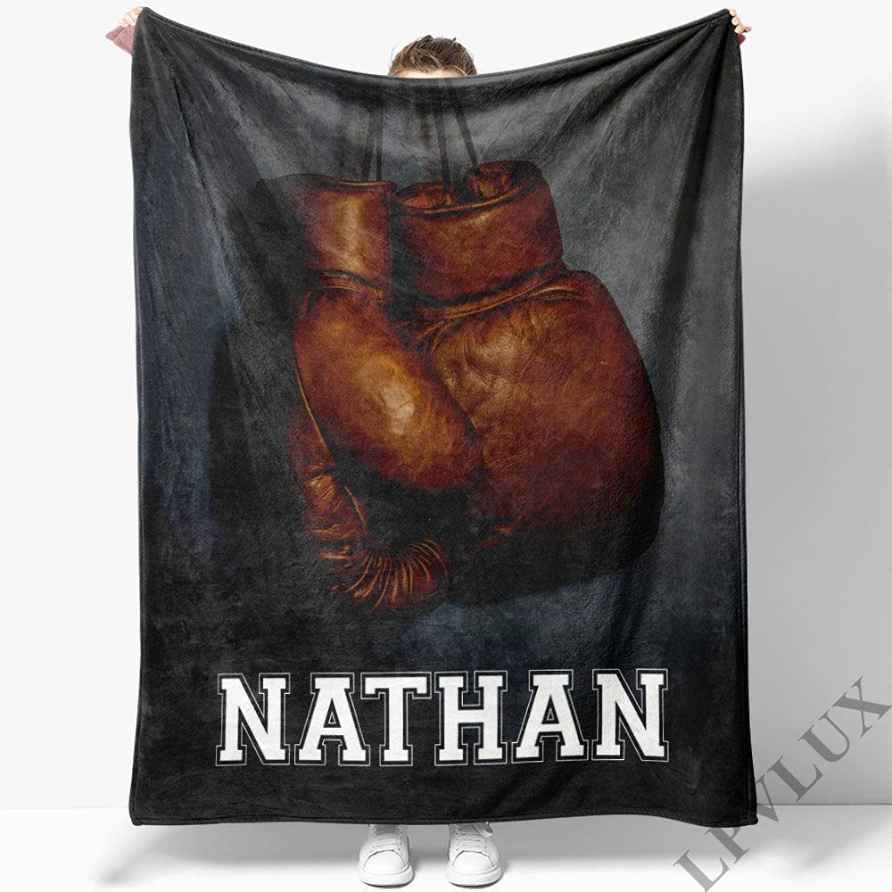 Jacksonville Mall El Paso Mall Boxing Gloves Hanging On Wall Super and Soft Fleece Blanket Cozy