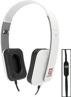 Langston ® Vodafone Smart Prime 6 Smartphone 5 Inch Blanco Deep Bass Plegable HD Auriculares (iM-8) con Micrófono y Mando