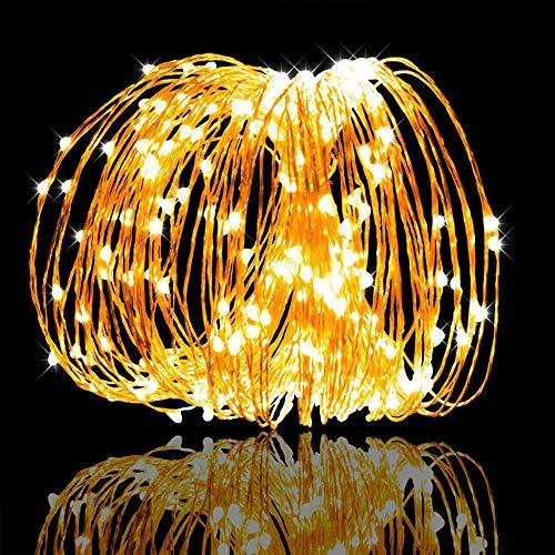 WYTX - Lámpara LED de noche con alimentación alimentaria, luces LED, guirnalda decorativa para casa, dormitorio, lámpara LED, lámpara de noche, LED, roja, regalo para niños, rosa, batería 3 A, 5 m