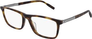 Montblanc - Gafas anteojos MB0021O 007 habana marco de plástico del tamaño de 57 mm de gafas de hombre