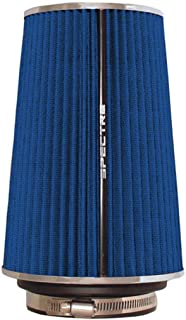Spectre Universal Clamp-On Air Filter: High Performance, Washable Filter: Round Tapered; 3 in/3.5 in/4 in Flange ID; 8.75 ...