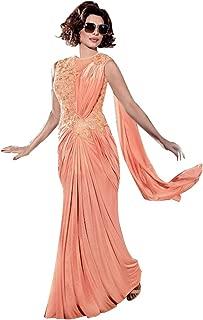 Indian Bollywood Priyanka Gown Saree Lycra Fabric for women dress sari salwar Hit 13