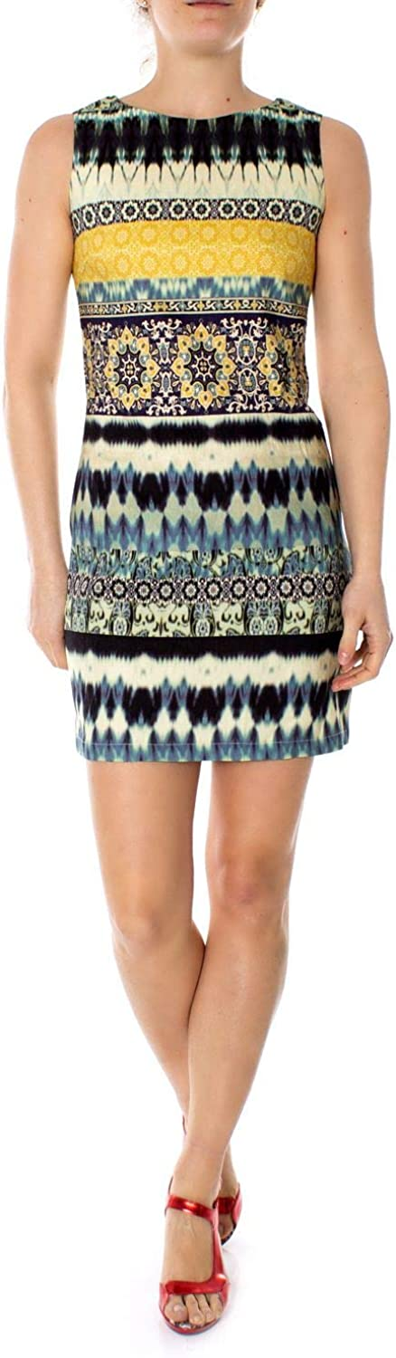 Desigual Women's 19SWVW13MULTI Multicolor Linen Dress