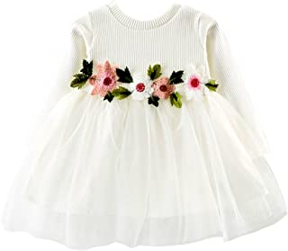 Wiwsi Birthday Gift Little Girls Flower Princess Formal Party Dress Tulle Gown