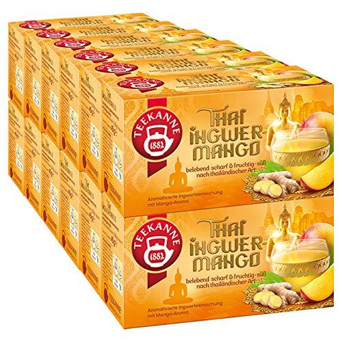 Teekanne - Thai Ingwer-Mango Früchtetee Ingwertee - (12x 20Bt/50g)