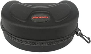 NAVAdeal Marsnow Hard Waterproof Protective Ski Goggle Carrying Case with Portable Hook and Strong Zipper, Suitable for Snowboard and Skiing Goggles, Sunglasses, Reading Glasses, and More Eye-wear