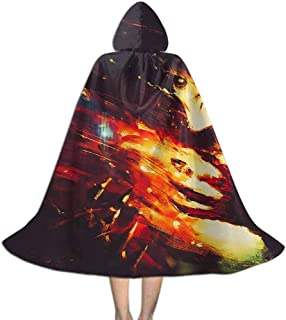 MakeHappy Kids Hooded Cloak Cape for Halloween Cosplay Costumes,Skelton Army Design