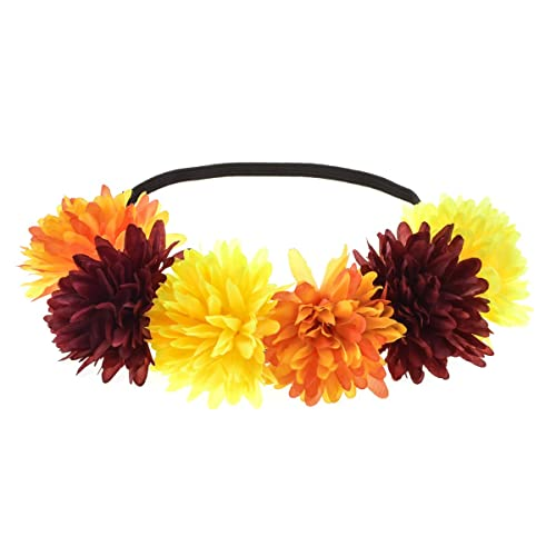 Floral Fall 4th of July Festival Headbands Holiday Crown Hippie Flower  Headpiece HD-23 22f588498a1