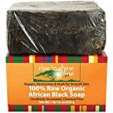 Rise 'N Shine Raw Organic African Black Soap, 16 oz. by Rise 'N Shine Online