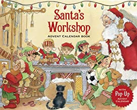 Caspari Santa's Workshop 3D Advent Calendar Pop-Up Book - 1 Each