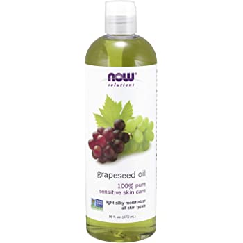 NOW Solutions, Grapeseed Oil, Skin Care for Sensitive Skin, Light Silky Moisturizer for All Skin Types, 16-Ounce