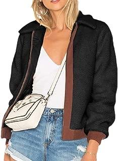 Women's Thicken Fleece Long Sleeve Zipper Front Long Sleeve Coat Outwear