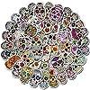 ステッカー 10/30 / 50pcsホラースカルステッカーパーソナライズ荷物ノートブック装飾落書きステッカー卸売 絶妙なステッカー (Color : 50PCS)