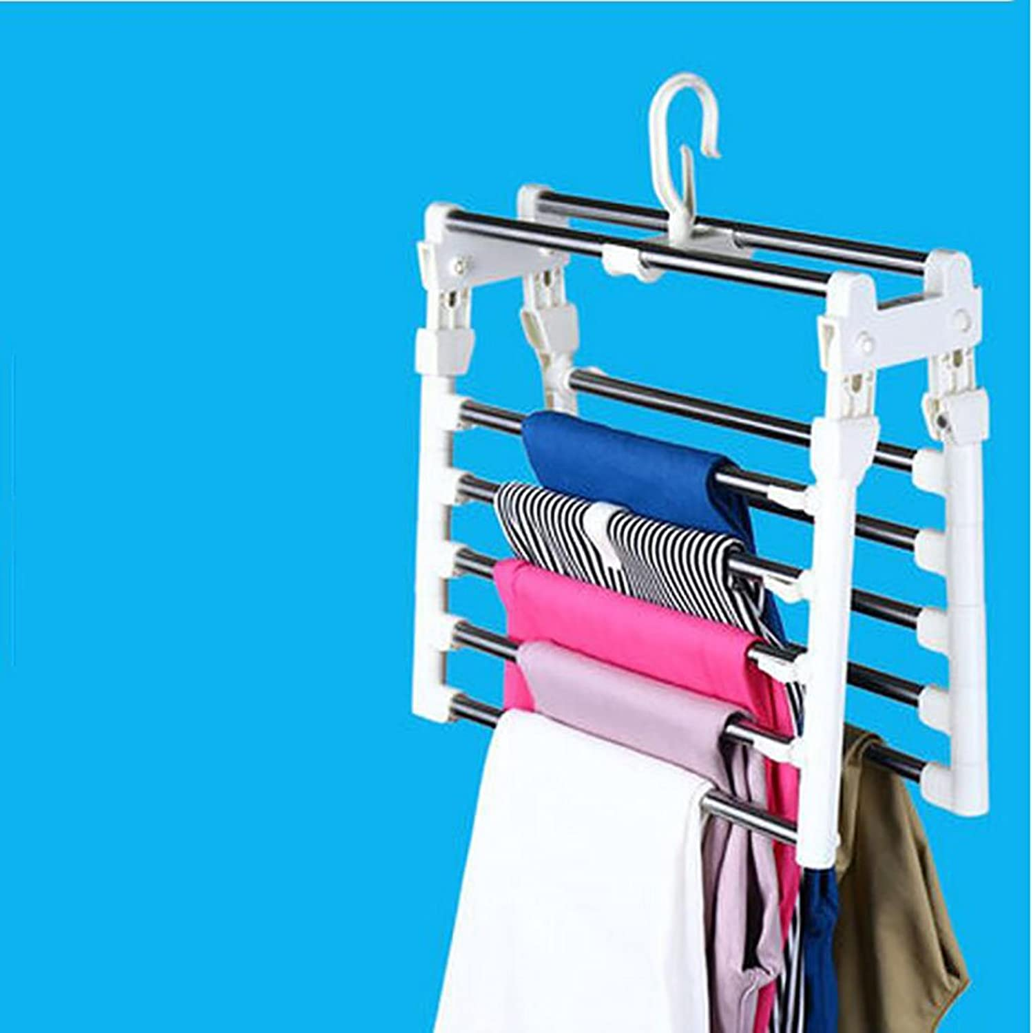 Stainless Steel Multi - Story Creative Multi - Function Clothes Racks Bedroom Balcony Hangers Clothes Rack