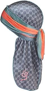 Designer Velvet Durag Fashion Design for Men Women, Best Du-rag for Waves
