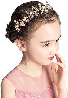 تاج أميرة لطيف من كامبسيس، إكسسوار شعر جميل مزين بالزهور للفتيات
