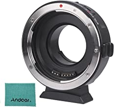 Viltrox EF-M1 AF Lens Mount Adapter Auto Focus Aperture Control VR Stabilization Compatible with Canon EF/EF-S Lens to M4/3 Micro Four Thirds Camera Panasonic GH5/4/3 Olympus