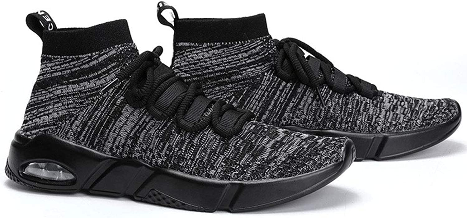 MEMIND Spring And Summer Flying Weaving Men Sports shoes Socks shoes Air Cushion Damping Casual shoes Teens Run Convenient Fashion Street Dance shoes 39-46 Yards