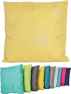 Sitzkissen Stuhlauflage Gartenkissen Kissen Stuhlkissen blau Blumenmuster gelb