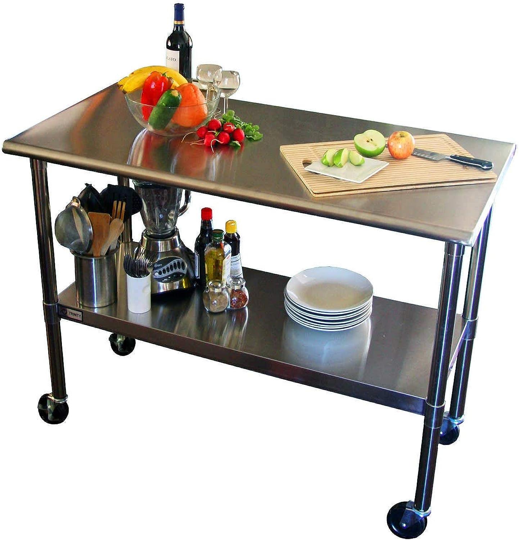 Kitchen Shelf Multipurpose Spice Racks, Stainless Steel Kitchen Seasoning Shelves Kitchen Storage Organizer Kitchen Storage Racks (color   B, Size   48cm)
