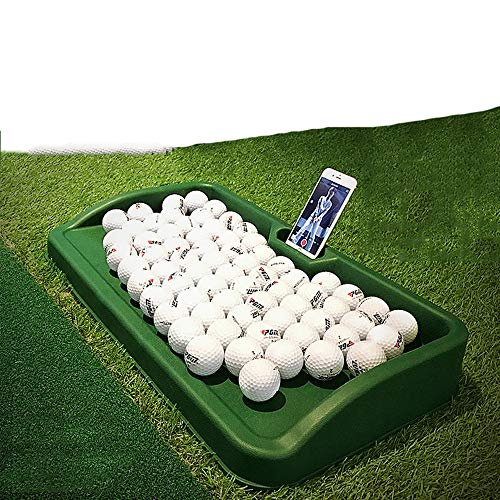 N \ A Golfballbox Vitrinenhalter, Golf Soft Tee Box mit Handy-Videoständer, professionelle Übungsfelder