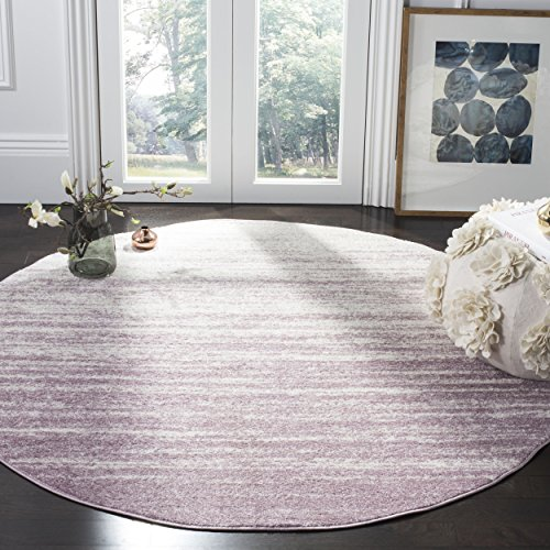 Safavieh Adirondack Collection ADR113L Cream and Purple Modern Abstract Round Area Rug (6' in Diameter)