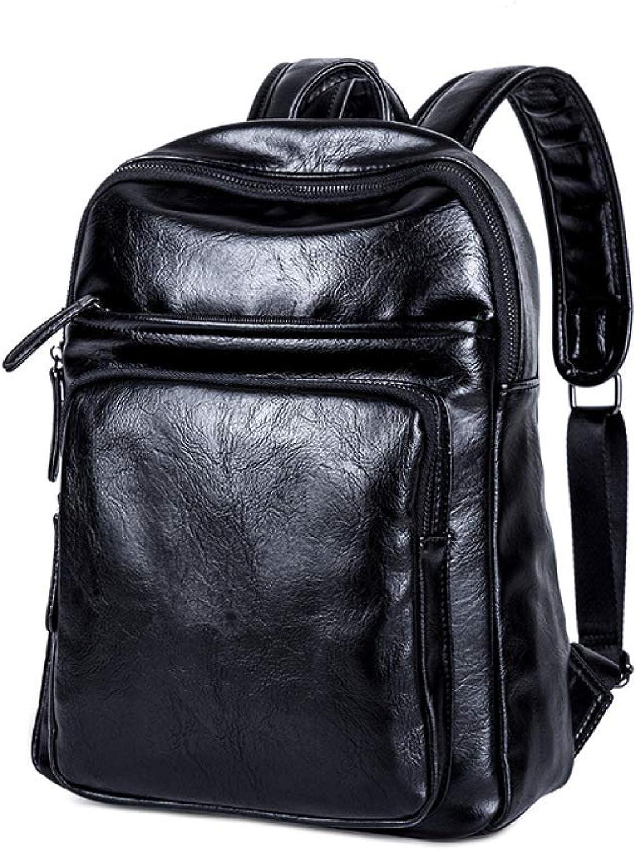 QWKZH Koreanische Version des PU-Stil Mnner Rucksack Flut Mnner Jugendfreizeit Reisetasche
