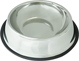 Stainless Steel Dog Bowl - Rust Resistant with Slip-Free Rubber Base, Puppy or Dog Bowl, Size Large