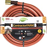 Swan Products ELCF34100 Element ContractorFARM Professional and Agricultural Water Hose 100' x 3/4', Red