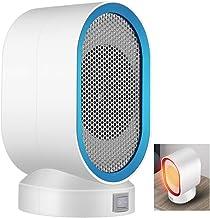BEIAKE Mini Calefactor Eléctricos De Calefacción De Bajo Ruido De La Máquina De Aire Caliente Cuerpo De Calentamiento Rápido Calentador Oficina Winter Home 400W,Azul