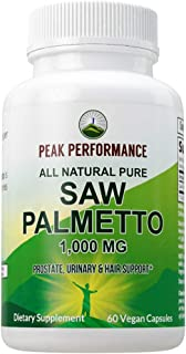 Sponsored Ad - Saw Palmetto Capsules for Men and Women by Peak Performance. 1000mg All Natural Saw Palmetto Extract Pills ...